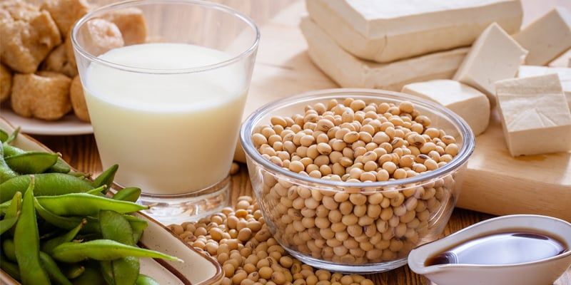 các sản phẩm từ đậu nành