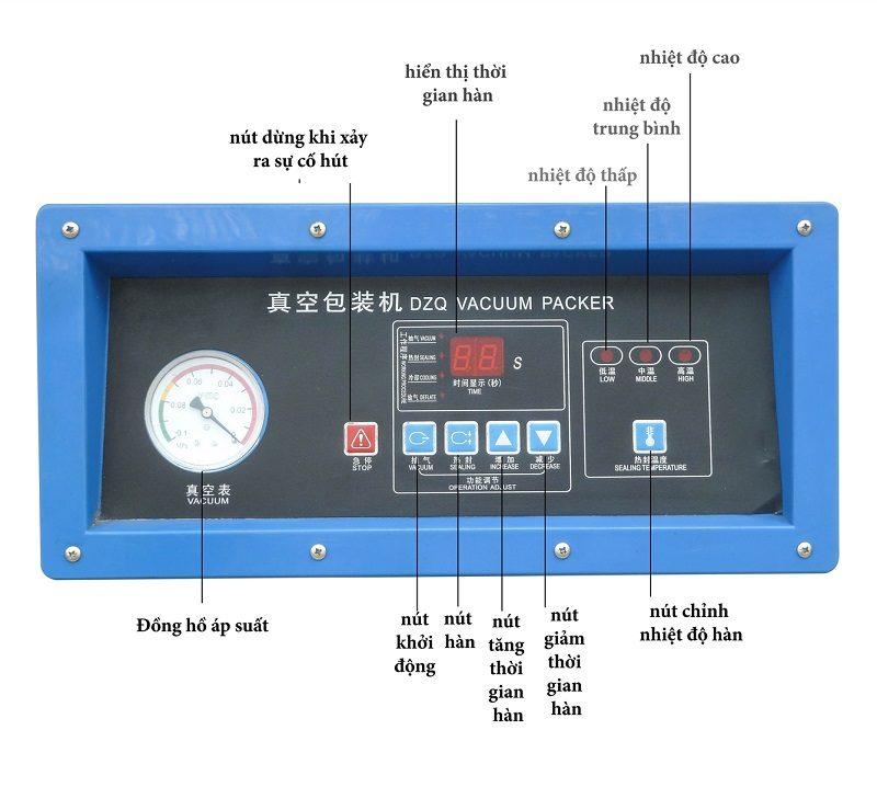 bảng điều khiển máy hút chân không công nghiệp