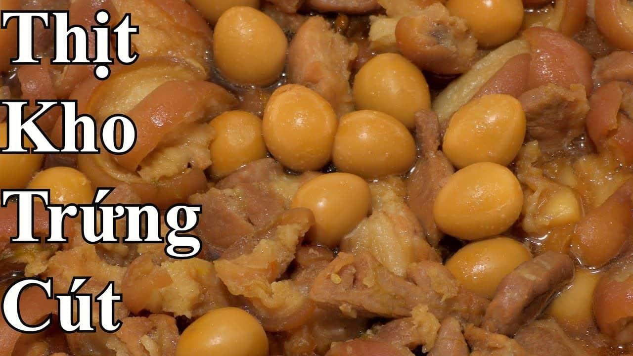 Cách làm thịt kho trứng cút