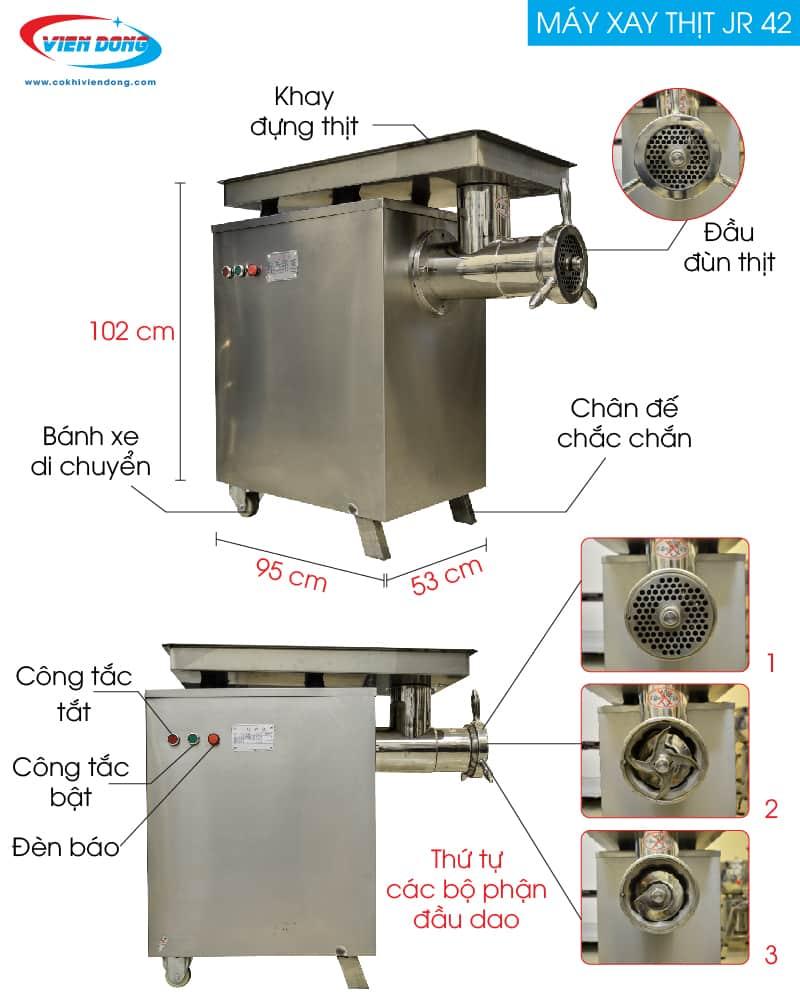 cấu tạo máy xay thịt công nghiệp